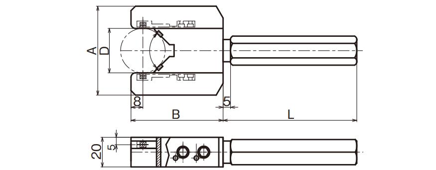 Đầu đo đường kính ngoài (loại gián tiếp) LV Type
