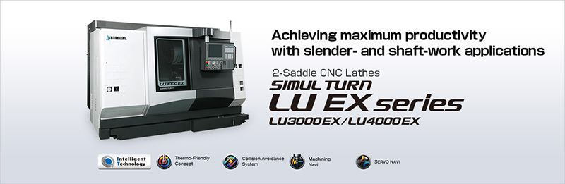 Máy tiện CNC 2 đài dao SIMUL TURN LU EX series