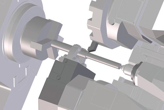 Tiện các trục dài với độ ổn định cao, không rung động