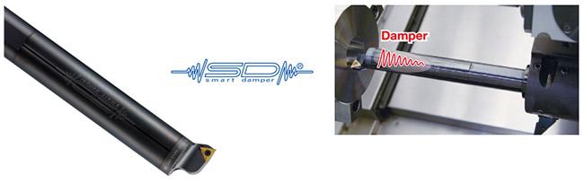 Thân dao tiện trong chống rung thông minh smart damper boring bar