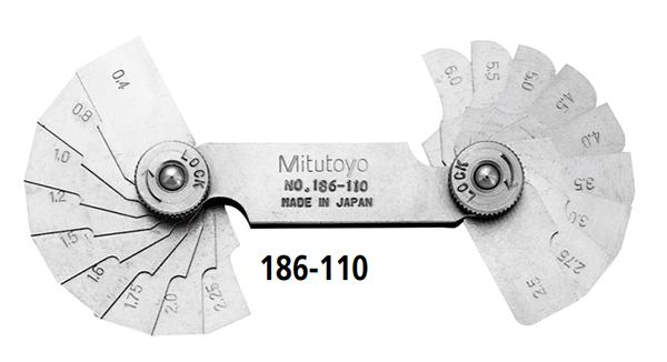 Bộ dưỡng đo bước răng Mitutoyo series 186-110