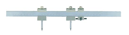 Steel beam trammel with graduation No.581