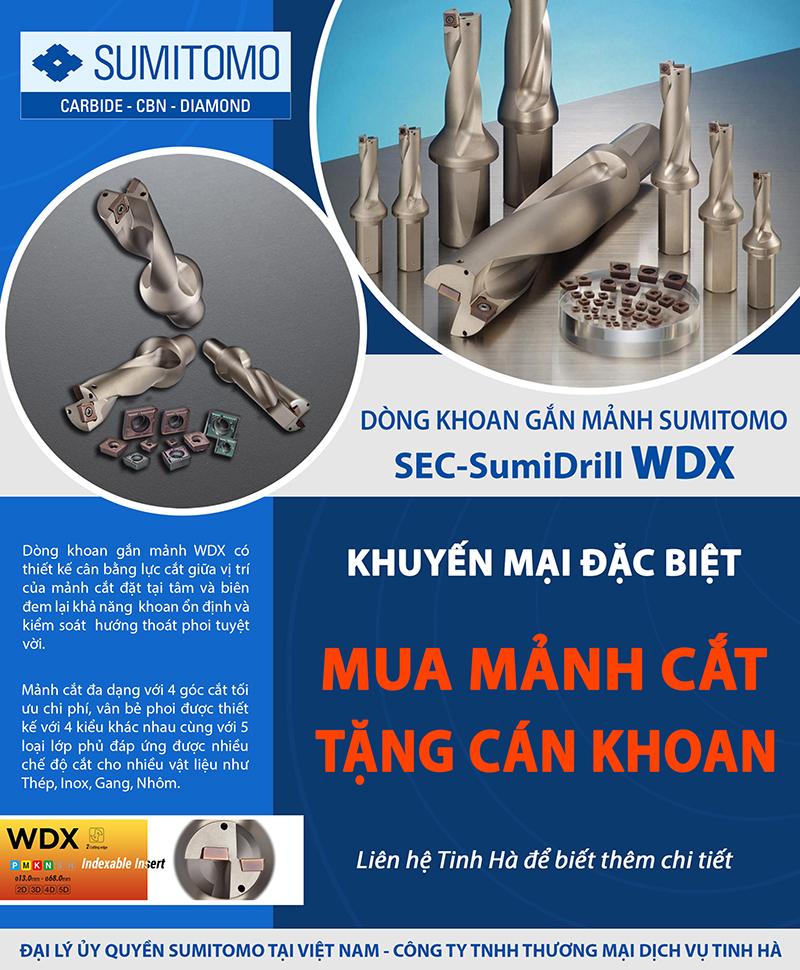 Khuyến mãi mũi khoan WDX