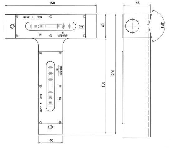 Nivo cân bằng hình chữ T No.600 RSK