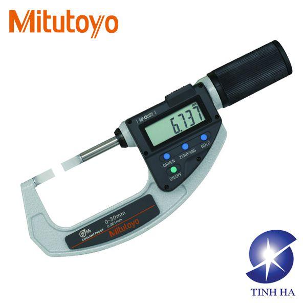 Panme đo ngoài điện tử kiểu đầu lưỡi dẹt series 422 Mitutoyo