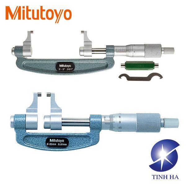 Panme đo ngoài cơ khí kiểu thước cặp series 143 Mitutoyo