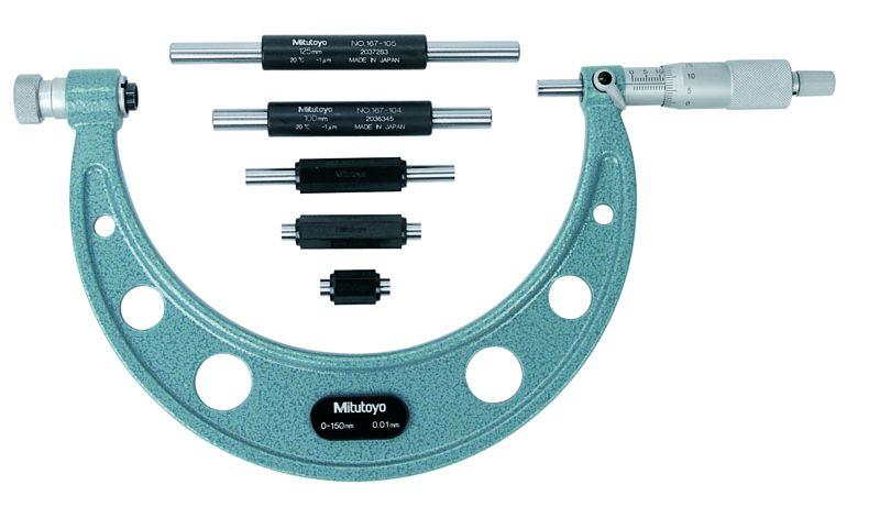 Panme đo ngoài cơ khí Mitutoyo series 104-135A
