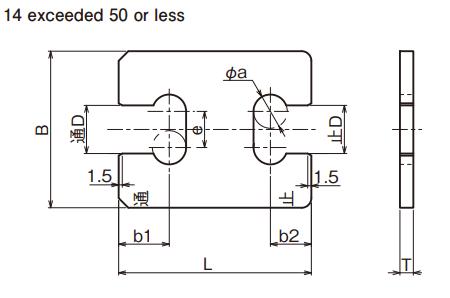 Snap đo kích thước trục (Snap Gauge) Ojiyas 14 include 50 or less