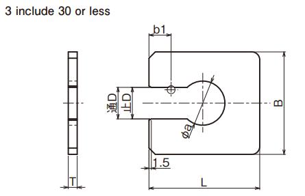 Snap đo kích thước trục (Snap Gauge) Ojiyas 3 include 30 of less