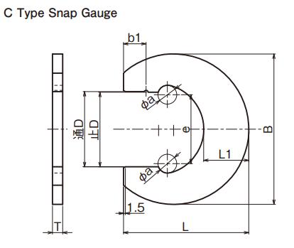 Snap đo kích thước trục (Snap Gauge) Ojiyas C Type Snap Gauge