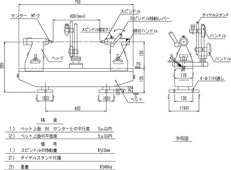 Thiết bị đo độ đồng tâm RSK loại tiêu chuẩn No.562