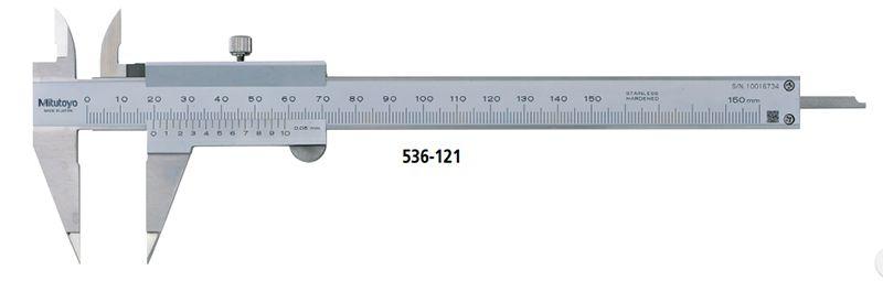 Thước cặp mỏ kẹp đầu nhọn đo khe hẹp Mitutoyo 536-121