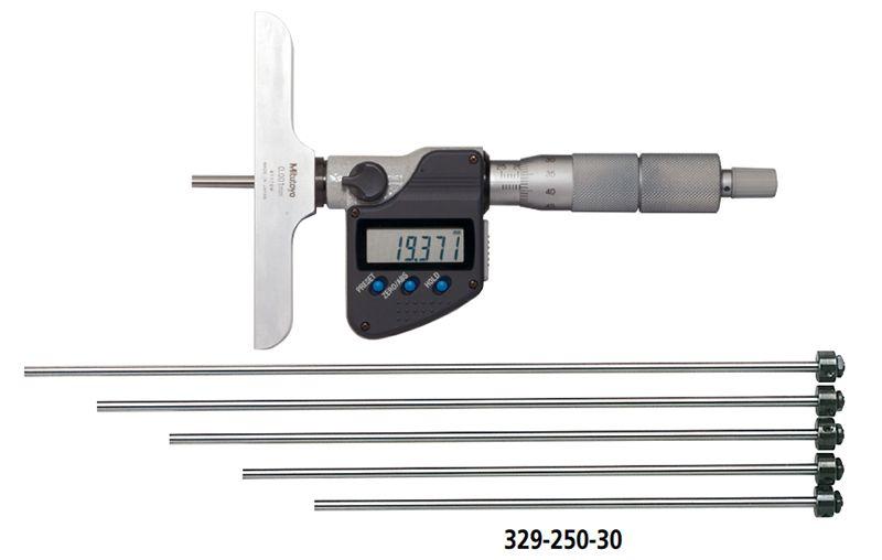 Dòng thước đo sâu điện tử có thể thay thế que đo Series 329 Mitutoyo