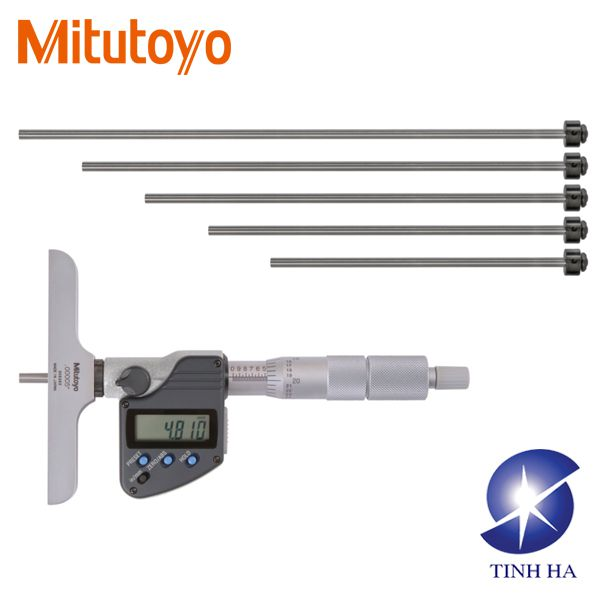 Depth Micrometer Series 329 - Interchangeable Rod Type