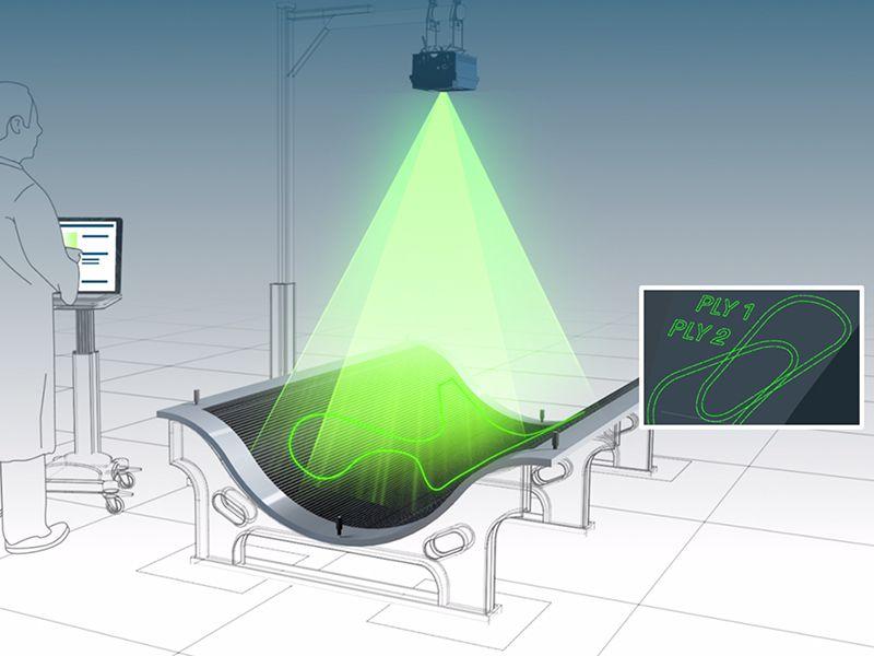 Máy chiếu FARO Tracer Laser dùng trong sản xuất, chế tạo