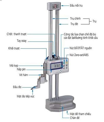 thước đo cao điện tử Mitutoyo