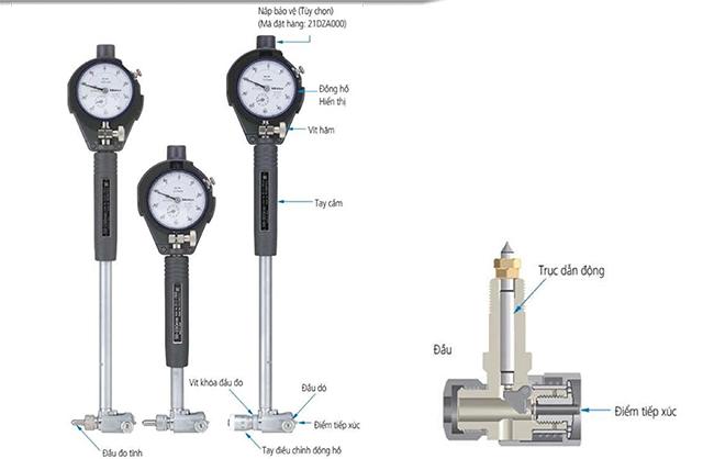 đồng hồ đo lỗ Mitutoyo