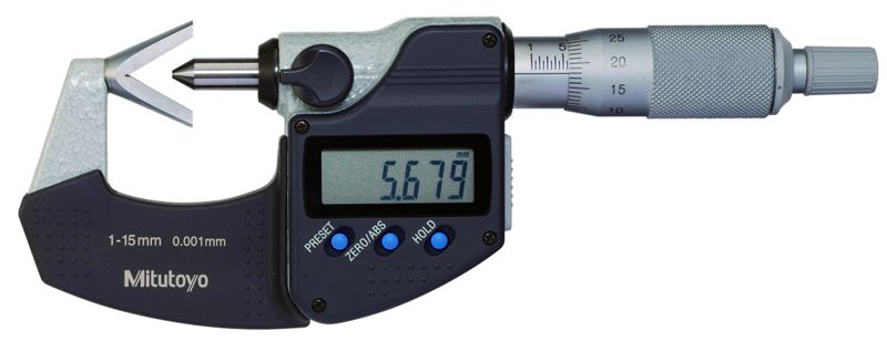 panme đầu đo chữ V (V-Anvil Micrometer)